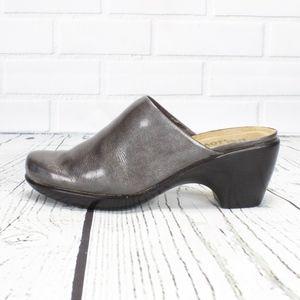 NAOT Clogs Mules 38 L7 Silver Color Slip On Shoes